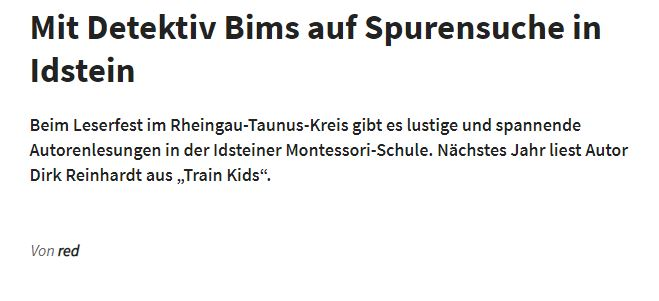 Mit Detektiv Bims auf Spurensuche in Idstein