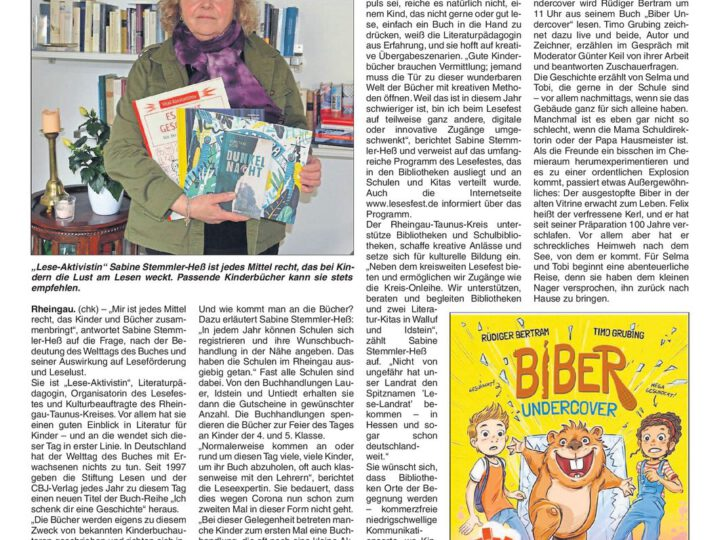 Ein weltweiter Feiertag fürs Lesen
